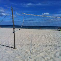 Let's go play some beach volleyball over there yo.   Böda Öland