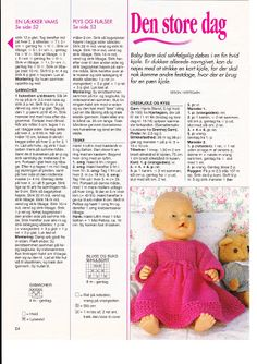 """Photo from album """"Одежда для Baby Born on Yandex. Knitting Dolls Clothes, Doll Clothes Patterns, Doll Patterns, Dolly Fashion, Fashion Dolls, Love Knitting Patterns, Baby Born Clothes, Knitting Books, Knit Fashion"""