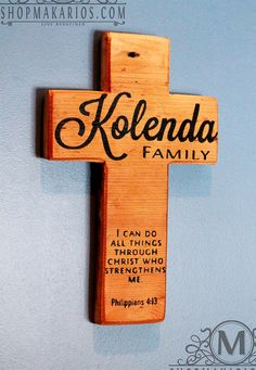 Family Wall Cross - Shop Makarios - Wooden Wall Cross