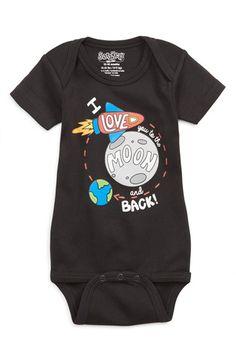 'Moon and Back' Bodysuit (Baby Boys)