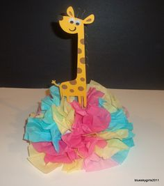 Giraffe Centerpiece Decoration KIT DIY Complete Birthday baby shower 1st birthday sweet 16 party. $7.00, via Etsy.