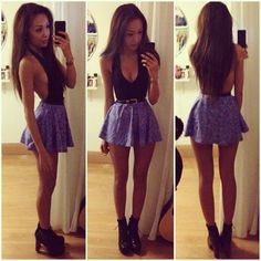 Love the skirt, the colour is beautiful! Killer outfit for a night in the club