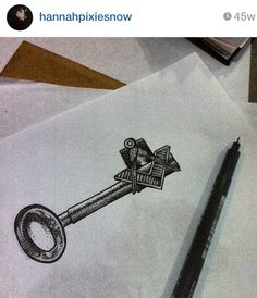 Key tattoo by Hanna Snowdon