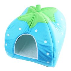 Pet's House Strawberry Nest Dog Kennel Teddy Small Dog Kennel Pet House Pet Nest Washable Kennel Small Dog Cushion the Fall and Winter (Blue, Small) * New and awesome product awaits you, Read it now