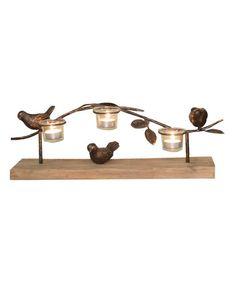 Love this Dim Bird & Vine Triple Candleholder by Haven on #zulily! #zulilyfinds