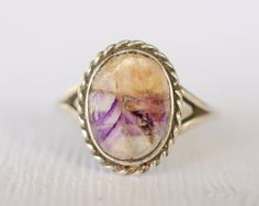 1940's vintage / Blue John sterling ring // ROCKY by ErinAntiques, $48.00