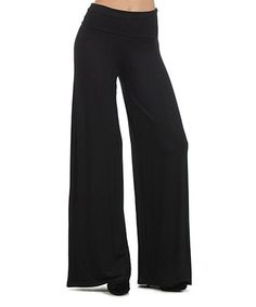 Another great find on #zulily! Black Palazzo Pants by Pretty Young Thing #zulilyfinds