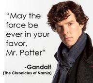 Sherlock, Star Wars, Harry Potter, LotR, Narnia, Hunger Games  :]