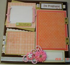 Scrapbooking by Phyllis: 20 Premade 12x12 Pregnancy Pages