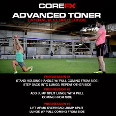 Looking for a new exercise to do at the gym? Try out the Lateral Pull Split Lunge with the #COREFX Advanced Toner! #fitness #health #advancedtoner #gymtime #makeithappen #fitfam #healthytalk #success #getfit #gethealthy #healthychoice #youcandoit