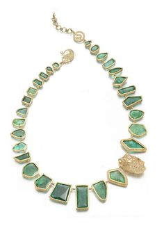 Coomi's GORGEOUS emerald slice and 20-karat gold necklace!