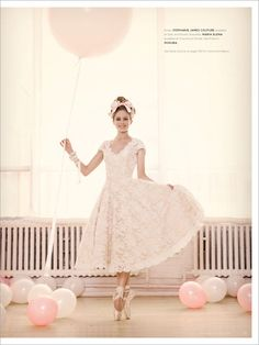 So pretty and feminine!  #ballet #wedding #blush