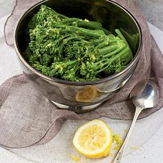 Made this except I added 1 clove of minced garlic and unsalted butter-Buttery Lemon Broccolini Recipes < Healthy Holiday Sides - Coking Light Side Recipes, Vegetable Recipes, Vegetarian Recipes, Lean Recipes, Vegetarian Cooking, Light Recipes, Yummy Recipes, Yummy Food, Healthy Side Dishes
