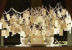 beautiful way to present wishes for the bride and groom. Much better than a guest-book!