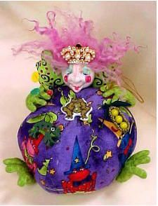 Critter pin cushion by the Potted Frog, Marcia Acker-Missall