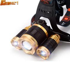 Lithium headlamp searchlight 3 light super bright long-range fishing headlight outdoor night riding headlights miner's lamp #Affiliate