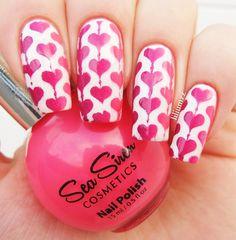 HEART NAILS   Sea Siren - Leucosia (white)  Sea Siren - Buccaneer (purple)  Sea Siren - Coral Atoll (coral)   #nail #nails #nailart #naildesign #nailpolish #nailstagram #manicure #mani #neglelakk #manikyr #instanails #nagellack #nailspiration #notd #nailsoftheday #cutenails #cutemani #nails2inspire #nailartaddict #nailsofinstagram