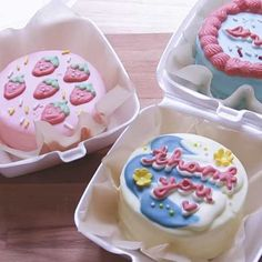 I-Made-Cute-Mini-Lunchbox-Cakes-From-Scratch Box Cake Recipes, Cake Recipes From Scratch, Fun Baking Recipes, Mini Desserts, Delicious Desserts, Korean Cake, Minions, Cakes Today, Little Cakes