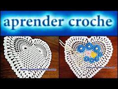 TOALHA EM CROCHE CORAÇÃO DA WEB - 014 PARTE 2