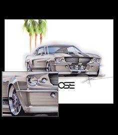 Ford Mustang custom drawing by Chip Foose, Foose Design