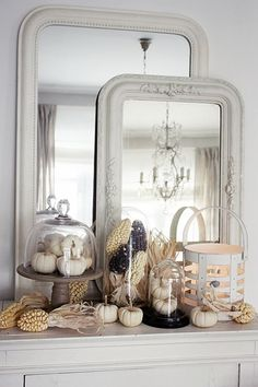 white and natural fall elements.