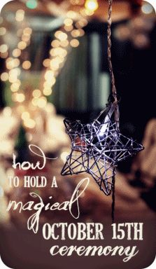 How To Hold A Magical Ceremony For October 15th