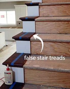 False Tread Cap Stairs In 2019 Carpet Stairs