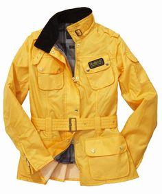 Womens Barbour Rainbow International Bright Brass Jacket- Yellow