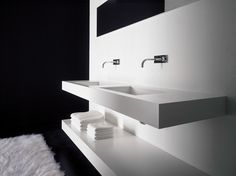 Double washbasin countertop BLOCK2 Block2 Collection by Moab 80