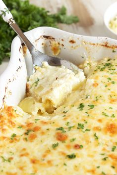 Completely from scratch and so easy to make, this is the Very Best Potatoes Au Gratin recipe ever.   TheSuburbanSoapbox.com