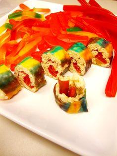 Kid's Craft Idea - Gummy Worm and Licorice Sushi