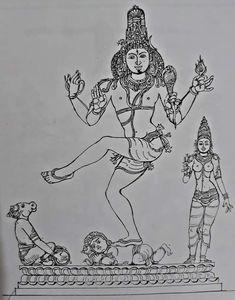 Shiv Ji, Lord Shiva Painting, Nataraja, Bhagavad Gita, Hindu Art, Hinduism, Art Sketches, Outline, Sculptures