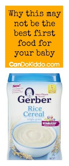 One mom's search for answers the best first solid foods for babies. CanDo Kiddo