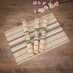 Online shopping from a great selection at Home & Kitchen Store. Kitchen Store, Kitchen Dining, Dining Room, Bamboo Table, Table Linens, Home Kitchens, Place Mats, Eco Friendly, Room Set