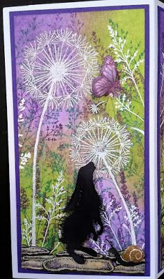 Marianne& Creative World. Card Making Inspiration, Making Ideas, Cat Cards, Greeting Cards, Rubber Stamp Company, Lavinia Stamps Cards, Purple Cards, Some Cards, I Card