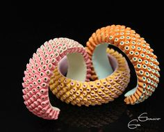 .:* L - Just wow. These appear to be bracelets made of polymer clay. Titled Color your life! by Hoedlgut