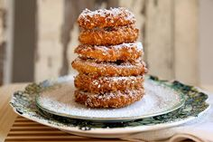 Double Battered Fried Apple Doughnuts