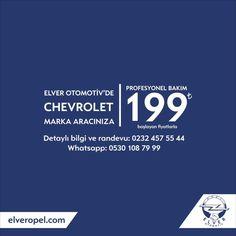 Chevrolet'inize iyi bakın 👀 🔈 Chevrolet'inize Profesyonel Bakım 199 TL'den başlayan fiyatlarla Elver Otomotiv'de! 📞Randevu için 0 (232) 457 55 44 📲 Whatsapp 0530 108 79 99 #chevrolet #opelturkiye #cruze #aveo  #captiva  #kalos  #bakımpaketi  #chevroletizmir Instagram