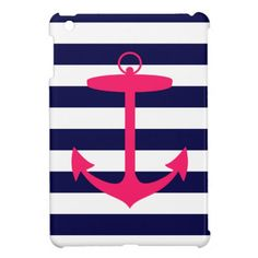 Pink Anchor Silhouette iPad Mini Cases $43.95