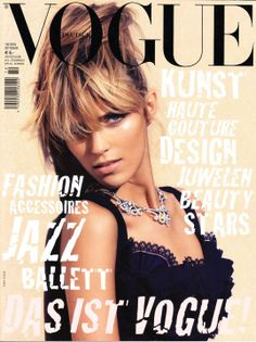 GERMAN VOGUE OCTOBER ,2OIO COVER | MODEL - ANJA RUBIK PHOTOGRAPHED BY - CAMILLA AKRANS