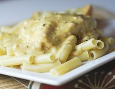 Crockpot Creamy Italian Chicken,  WW approved~ Place: 4-6 boneless skinless chicken breasts,1 package Italian season mix, 2 cans cream of chicken soup, 8oz package cream cheese in a greased crockpot for 6 hrs on low. Serve over pasta.