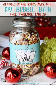 diy bubble bath diy bubble bath gag gift christmas gag gift idea funny - Homemade Christmas Gag Gifts