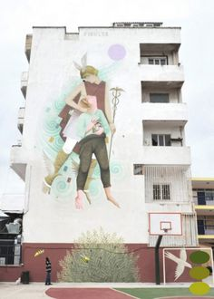 It's not often that street art projects are commissioned for schools but the Primary School of Athens in Greece recently got a makeover by Gree. Amazing Street Art, Amazing Art, Greece Art, Athens Greece, Installation Street Art, Art Installations, School Of Athens, Greek History, Street Art Graffiti