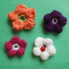 crochet cluster flower