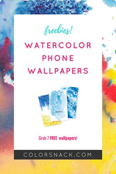 [Freebie] Watercolor Wednesday: Mobile Wallpapers - Color Burst • Watercolor Illustration + Gif Animation