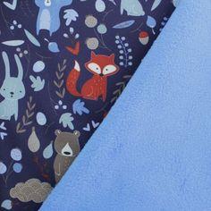 Softshell Enfants Tissu Pluie Tissu Dinosaures Bleu Foncé à Partir De 50 cm