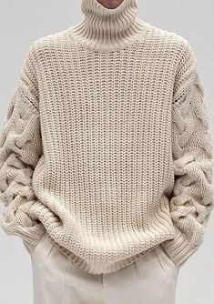 """Men's Hand Knit Sweater. Premium Quality Yarns. Any Sizes and Any Colors. Made by KnitWearMasters: 1000's of Satisfied Customers, World Class Hand Knit Products. MADE-TO-ORDER MODEL - Material: Wool - Production time: 3-4 weeks HOW TO ORDER: 1.Choose size ( see """"Size Chart"""" for help) 2.Choose a color (see Yarn's Color"""