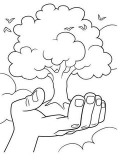 Earth Day Tree Coloring Page Earth Day Coloring Pages, Spring Coloring Pages, Tree Coloring Page, Colouring Pages, Free Coloring, Coloring Pages For Kids, Coloring Sheets, Adult Coloring, Coloring Books