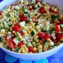 Fresh Corn, Tomato, and Zucchini Salad