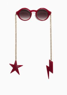 823795479d3 Other Stories Chain-Link Sunglasses in Red Cute Swimsuits